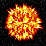 Explosion des Planeten Stockfotos