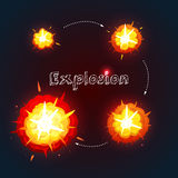 Explosion Design Set Royalty Free Stock Photography