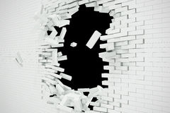Explosion, destruction of a white brick wall, abstract background for Template for a content. 3d illustration. Explosion, destruction of a white brick wall Vector Illustration