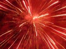 Explosion du rouge Photographie stock libre de droits