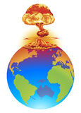 Explosion earth disaster concept Royalty Free Stock Photography
