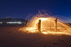 Explosion at eh great salt lake Stock Photo