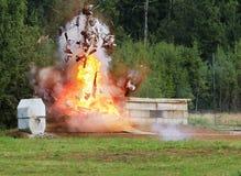 Explosion eine Flamme Stockfoto