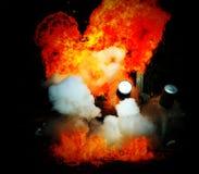 Explosion en flamma Royaltyfria Bilder