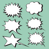 Explosion expression comic bubble retro style Royalty Free Stock Photo