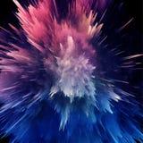 Explosion färgrik glitch-02 royaltyfri illustrationer