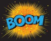 explosion för bokbangkomiker royaltyfri illustrationer