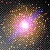 Explosion för ljus effekt Royaltyfri Foto