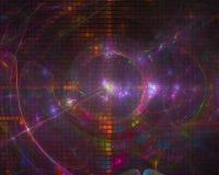 Explosion för makt för abstrakt för designljus för fractal digital framtida för färg form för bakgrund härlig stock illustrationer