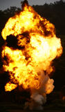 Explosion and fire. The explosion of coal mine dust Royalty Free Stock Photography