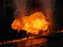 Explosion and fire Royalty Free Stock Image