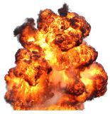 Explosion fireball isolated fire Stock Image