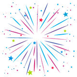 Explosion of firework on white Royalty Free Stock Photo