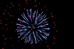 Explosion of fireworks Royalty Free Stock Photos