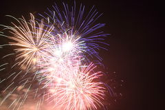An explosion of fireworks Royalty Free Stock Images