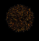 Explosion fireworks powerful bright space dust Stock Photography