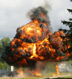 Explosion a flame. Tests of shooting arms for range royalty free stock photos