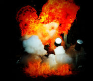 Explosion a flame Royalty Free Stock Images