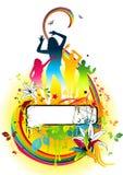Explosion florale de couleur illustration stock