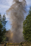 Explosion in forest Royalty Free Stock Images