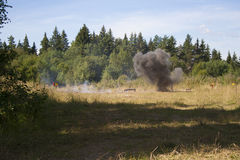 Explosion in forest Stock Photography