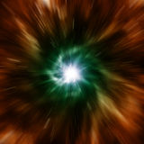 Explosion of galaxy. Royalty Free Stock Image