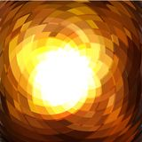 Explosion geometric gold background . Vector illustration Stock Image