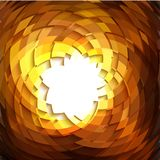 Explosion geometric gold background . Vector illustration Stock Image