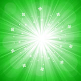 Explosion on green Royalty Free Stock Image