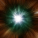 Explosion of green galaxy Royalty Free Stock Photos