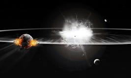 Explosion i universum royaltyfri bild
