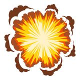Explosion icon, cartoon style. Explosion icon. Cartoon illustration of explosion vector icon for web Stock Images