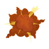 Explosion icon in cartoon style  on white background. Explosions symbol stock vector illustration. Stock Photography