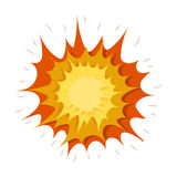 Explosion icon in cartoon style  on white background. Explosions symbol stock vector illustration. Stock Image