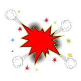 Explosion icon comic style Royalty Free Stock Photo