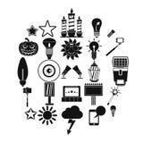 Explosion icons set, simple style. Explosion icons set. Simple set of 25 explosion vector icons for web isolated on white background Royalty Free Stock Image