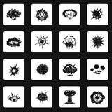 Explosion icons set squares vector Stock Photo