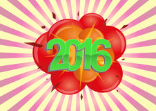 2016 explosion Stock Images
