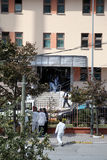 Explosion at Istanbul police station Stock Image