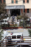 Explosion at Istanbul police station Royalty Free Stock Images