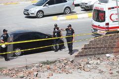 Explosion at Istanbul police station Royalty Free Stock Image