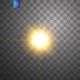 Explosion légère rougeoyante blanche d'éclat sur le fond transparent Décoration d'effet de la lumière d'illustration de vecteur a illustration de vecteur