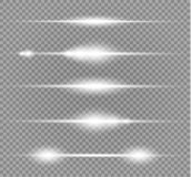 Explosion légère rougeoyante blanche d'éclat sur le fond transparent Décoration d'effet de la lumière d'illustration de vecteur a Images libres de droits
