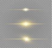 Explosion légère rougeoyante blanche d'éclat sur le fond transparent Décoration d'effet de la lumière d'illustration de vecteur a Image stock