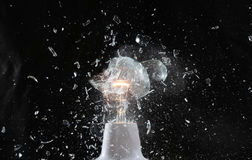 Explosion of the lamp Royalty Free Stock Photos