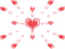 Explosion of love Royalty Free Stock Image