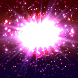 Explosion. Magenta  festive . Vector illustration eps 10 Stock Image