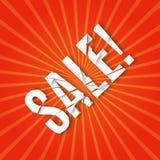 Explosion mit Verkaufstext Lizenzfreies Stockfoto