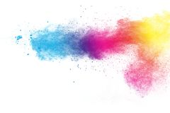 Explosion multicolore de poudre illustration de vecteur