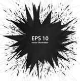 Explosion noire abstraite d'éléments, art de vecteur Images libres de droits